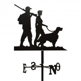 Girouette - Chasseur couple Chien + Mat 1