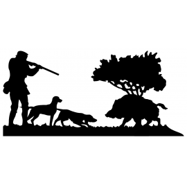 Girouette - Chasseur Chiens Sanglier - dimensions