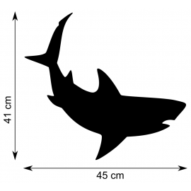 Girouette - Requin - dimensions