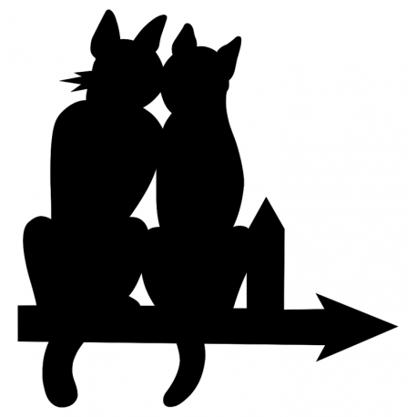 Girouette - Chat double vignette