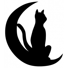 Girouette - Chat Lune vignette
