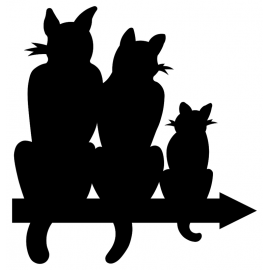 Girouette - Chat triple vignette